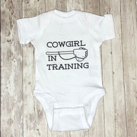 "Adorable ""Cowgirl In Training"" Infant Bodysuit"