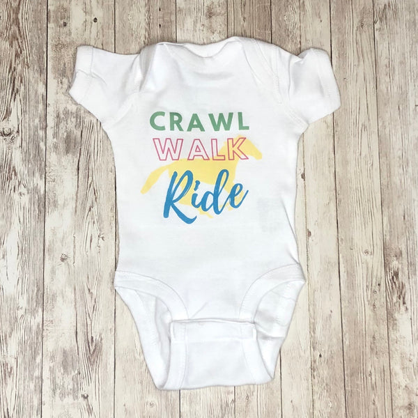 "Adorable ""Walk, Crawl, Ride"" Infant Bodysuit"