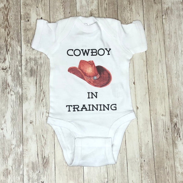 "Adorable ""Cowboy In Training"" Infant Bodysuit"