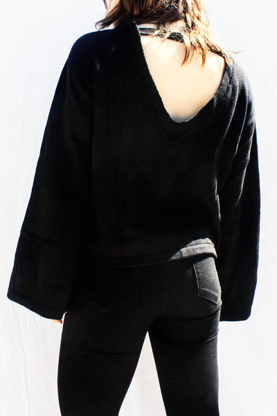 OVERSIZED BELL SLEEVE SWEATER