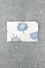 LOTUS FLOWER LEATHER FOLDOVER CLUTCH