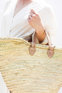 Straw Oversized Market Tote Bag - Salt Shoppe - Surf inspired canvas and neoprene bags for paradise.