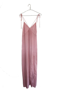 Cotton Slip Dress with Tassels