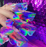 *FREE SAMPLE* Ultimate Flower Bomb Holo Nail Forms 10 pieces