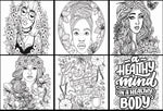 Printable women's colouring book - 50 pages