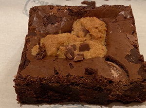 10 Piece Mixed Box of Brownies 5 x Cookie Dough, 5 x Salted Caramel