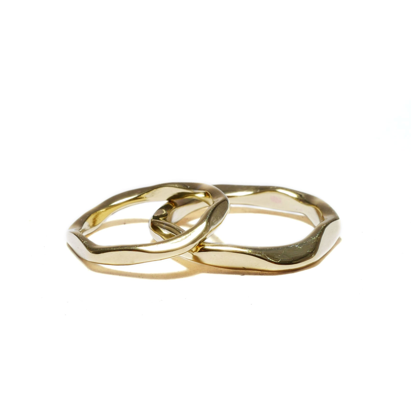 rock brass<br>basic-pair ring