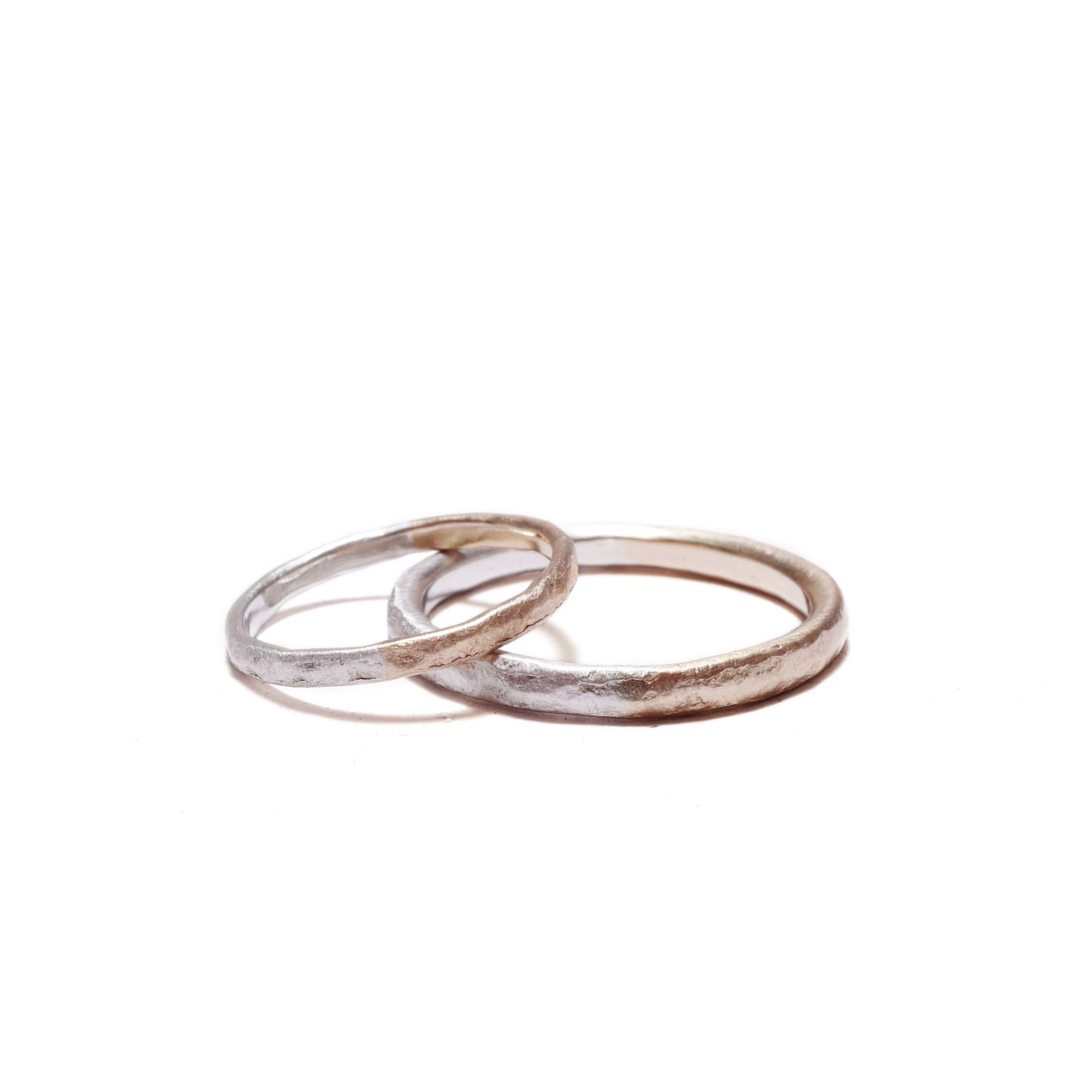 texture K10/silver<br>basic-pair ring
