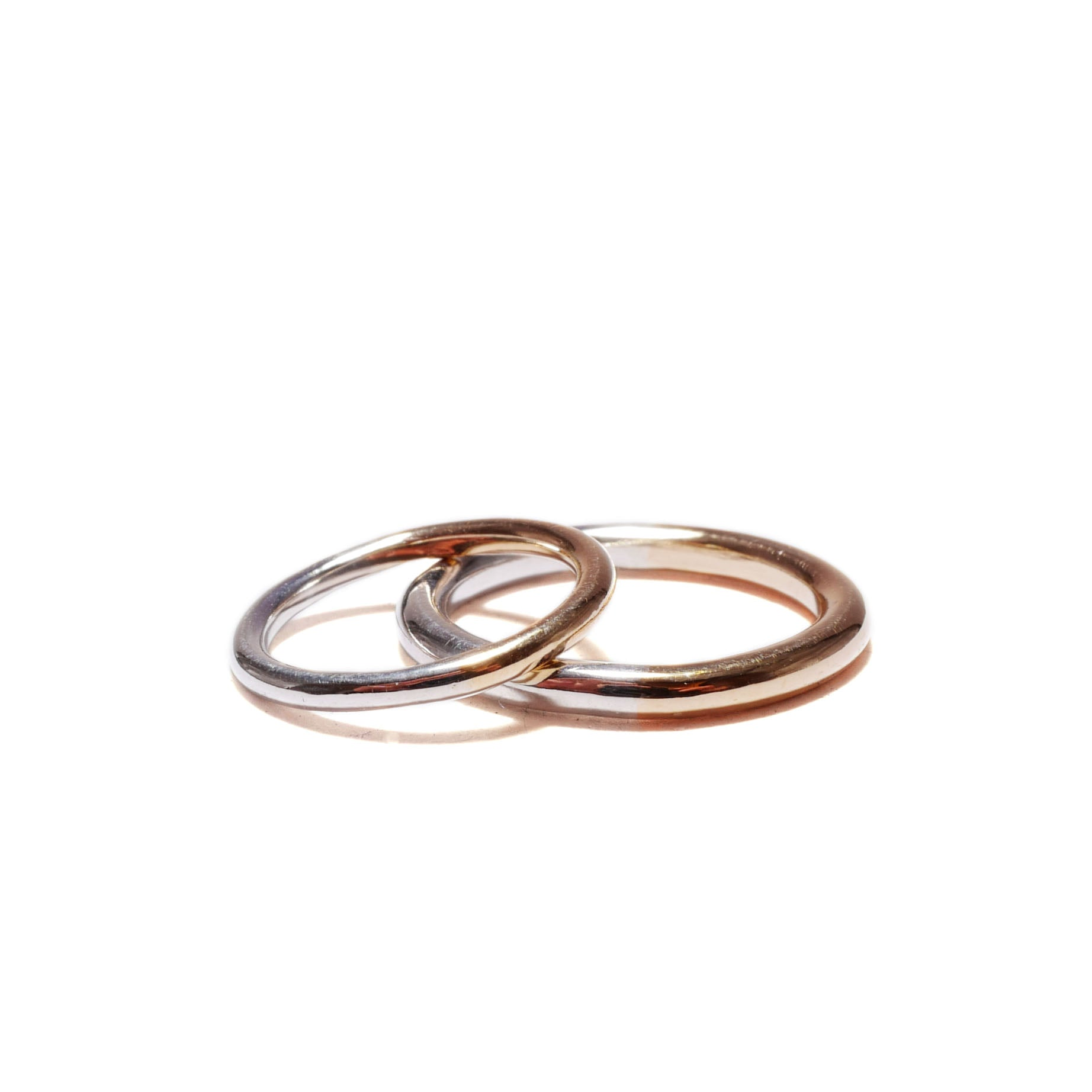 plain and simple<br>K10/silver basic-pair ring