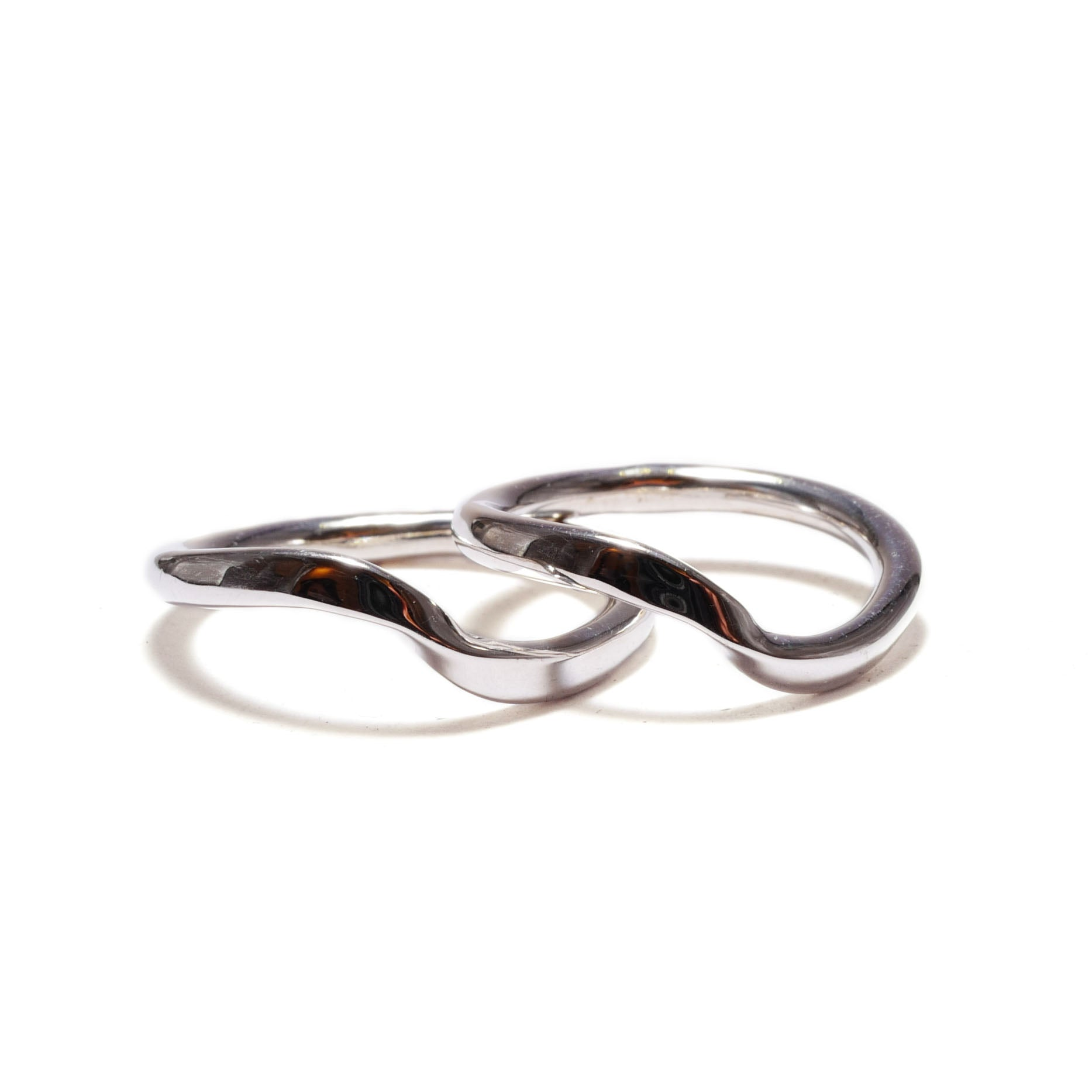 twist silver<br>basic-pair ring
