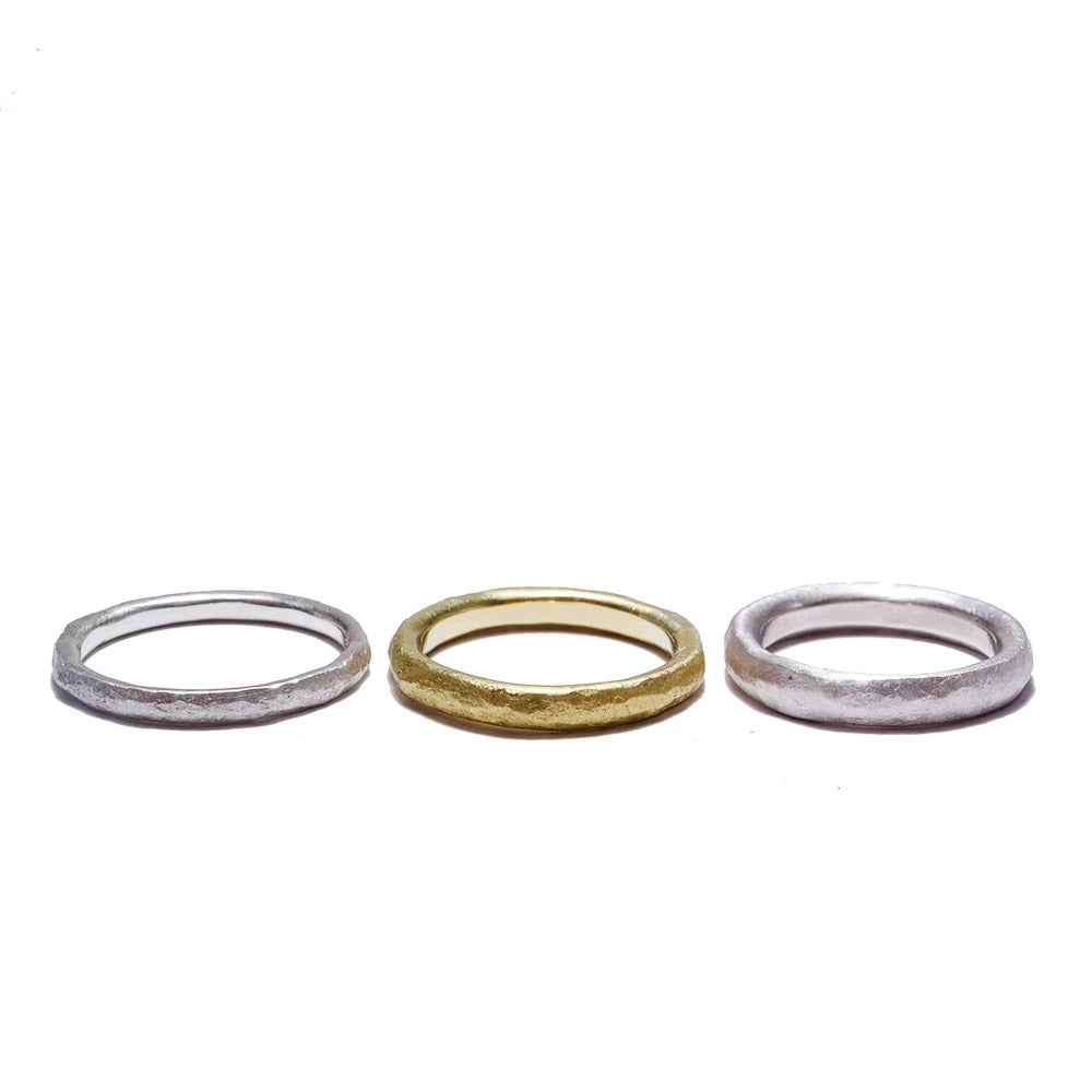 texture brass<br>basic-pair ring