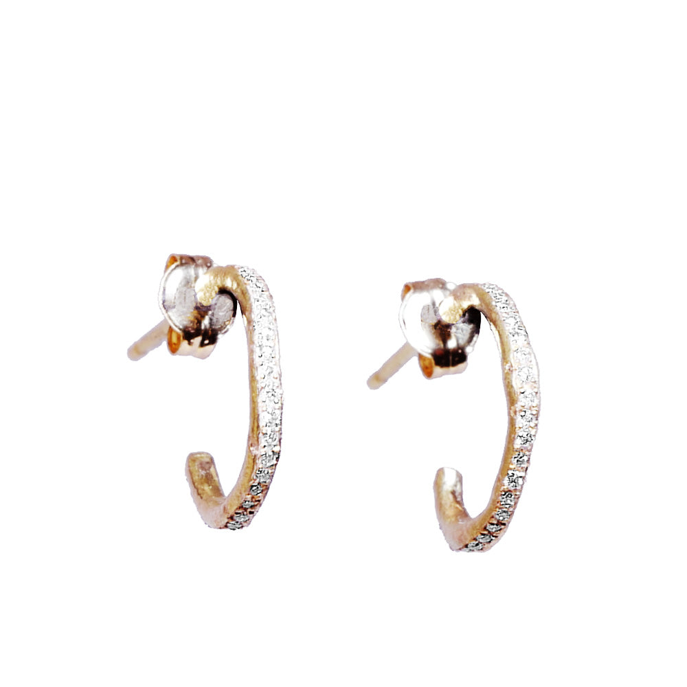 K18 hoop diamond<br>PAIR