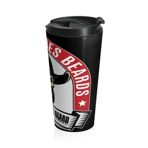 Tough 'Ombres Beards-Stainless Steel Travel Mug Mug Printify