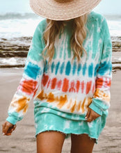 Load image into Gallery viewer, Ninipy Fashion Tie Dye Long Sleeve Sweatshirt Dress