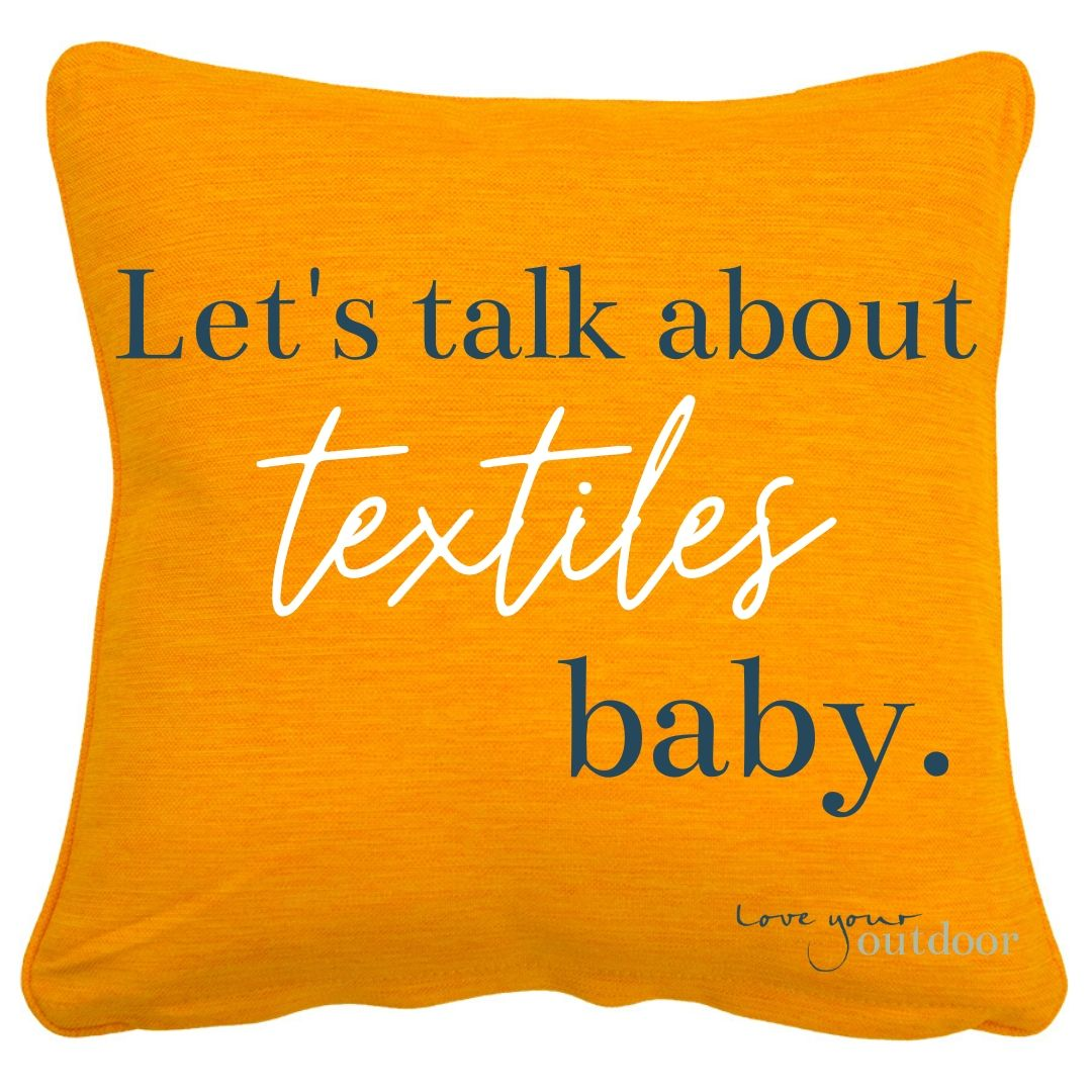 Let's talk about textiles, baby.
