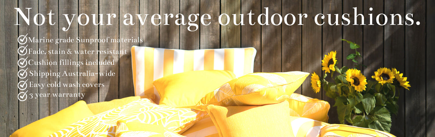 Not your average outdoor cushions