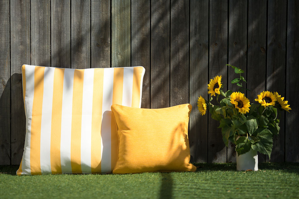 Southend Yellow - Small Throw Cushion