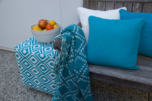 Copacobana Blue - Small Throw Cushion