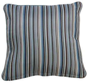 Bray Blue Stripe - Large Throw Cushion