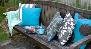 Gingerole Blue - Small Throw Cushion