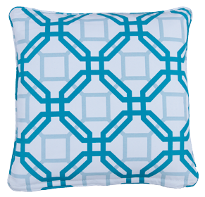 Natadola Blue - Small Throw Cushion