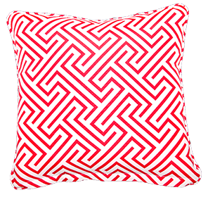 Negrill Red- Large Throw Cushion