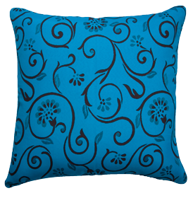 Vielle Blue - Large Throw Cushion