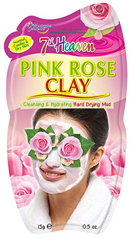 Face Mask - Pink Rose Clay - 7th Heaven