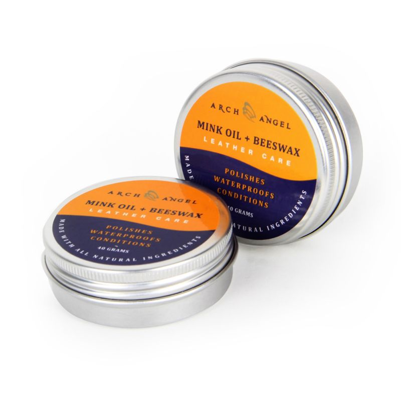 Care for your shoes and give them a new shine with the Arch Angel Mink Oil.