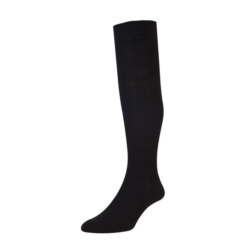 Recommended for long distance travel and suitable for all age ranges, these full length graduated HJHall Flysafe compression flight socks are shown to help increase the blood flow.