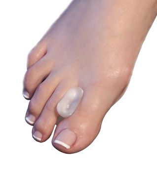 The Silipos Gel Toe Spreader aligns the big toe to help reduce pain associated with bunions, overlapping toes, and toe drift.