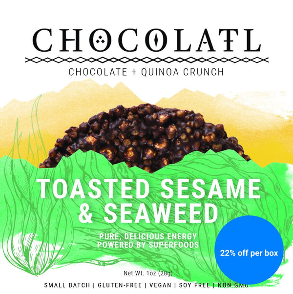 Toasted Sesame & Seaweed Chocolate Crunch