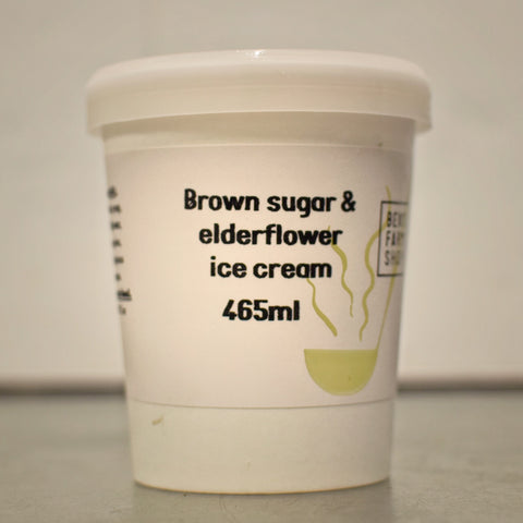 Brown Sugar & Elderflower Ice Cream 465ml
