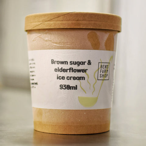Brown Sugar & Elderflower Ice Cream 930ml