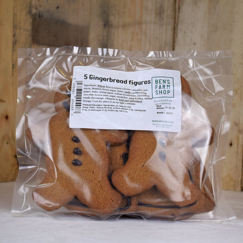 Gingerbread figures (packs of 5)