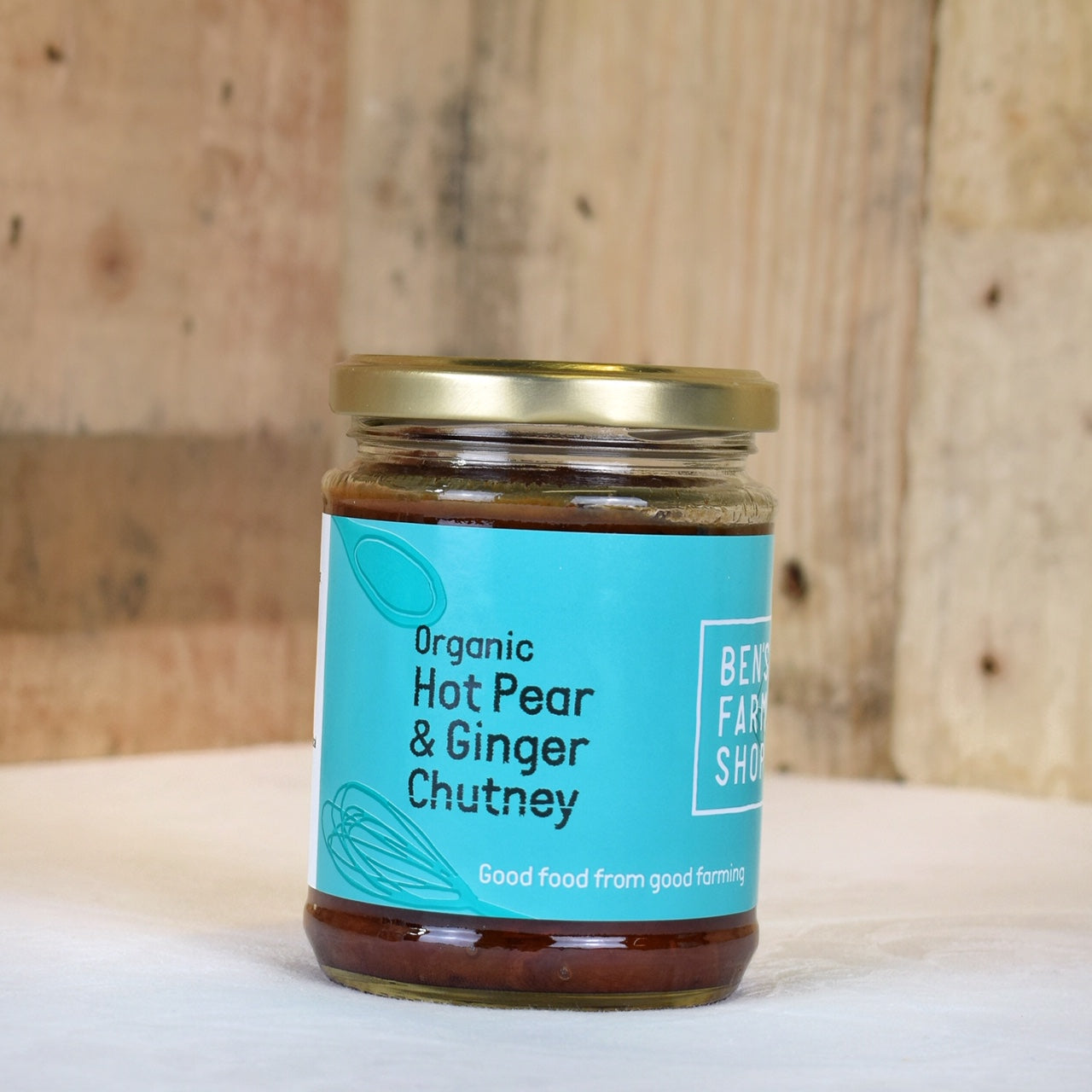 Hot pear & ginger chutney