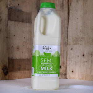 Riverford Dairy semi skimmed milk 1ltr
