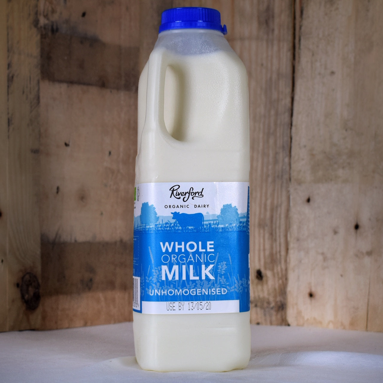Riverford Dairy whole milk 1ltr