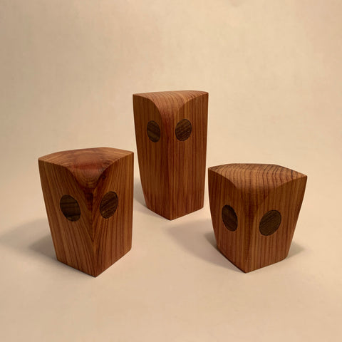 Hand Crafted Owls by Peter Tegu