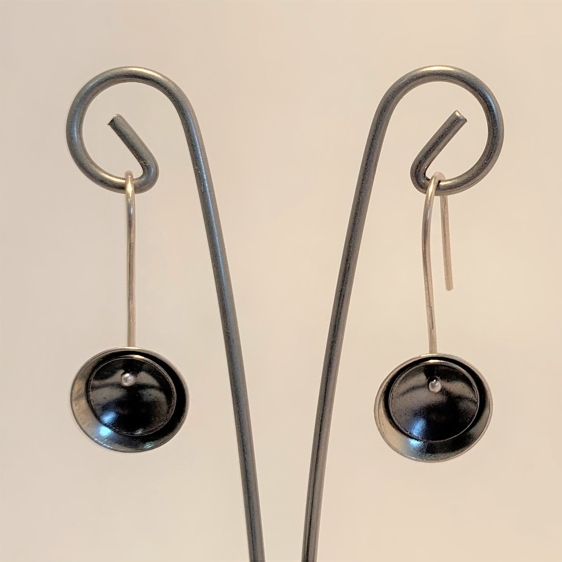 Sterling Dome Earrings by Olivia de Soria