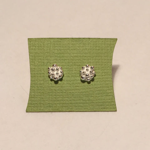 Sterling Silver, Small, Round, Bumpy, Stud Earrings by Dahlia Kanner