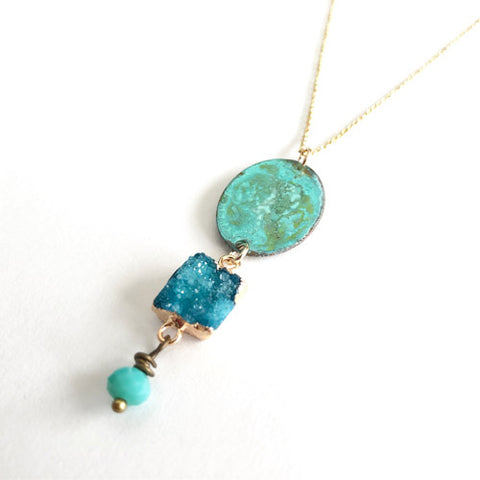 Sapphire Shores Necklace by SSD Jewelry