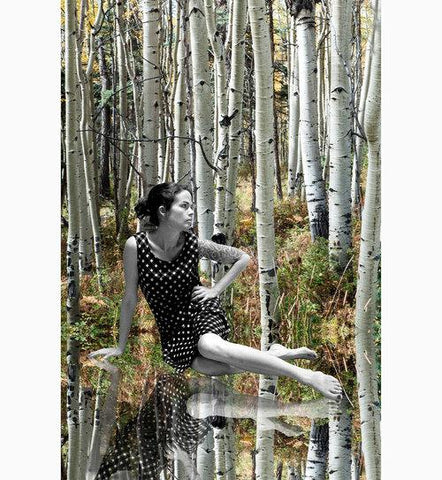 """Aspen Girl"" Photograph on Metal by Nancy Reid Carr"