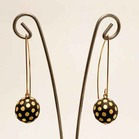 Ladybug Porcelain Earrings by Mier Luo