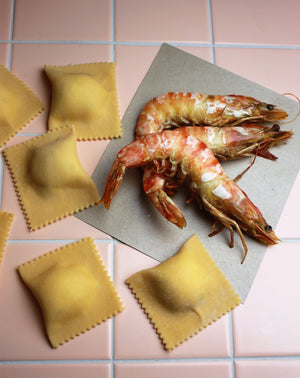 Load image into Gallery viewer, King Prawn & Potato Ravioli