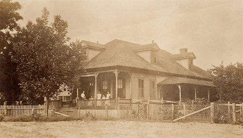 Southwest Corner of Miss Colleen's house