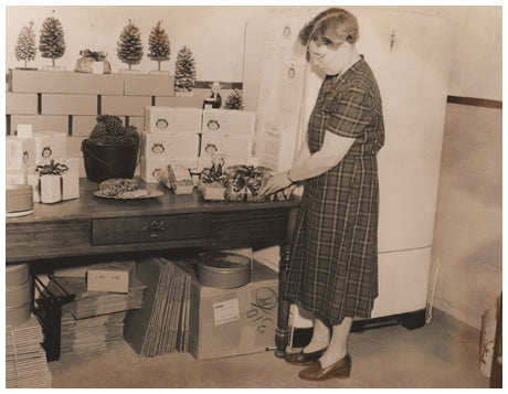 Dorothy Pacey in original Punta Clara Kitchen building.