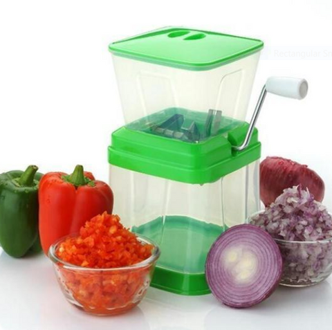 Vegetable and Onion Chopper Quick Cutter with Rotating Blade