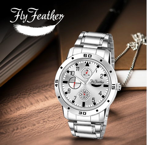 Silver Dial Watch For Men