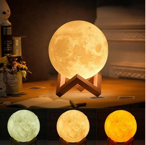 Buy 3d Led Moon Shaped Lamp Lunar Moonlight Lamp Multi Color Firstrate Shopper